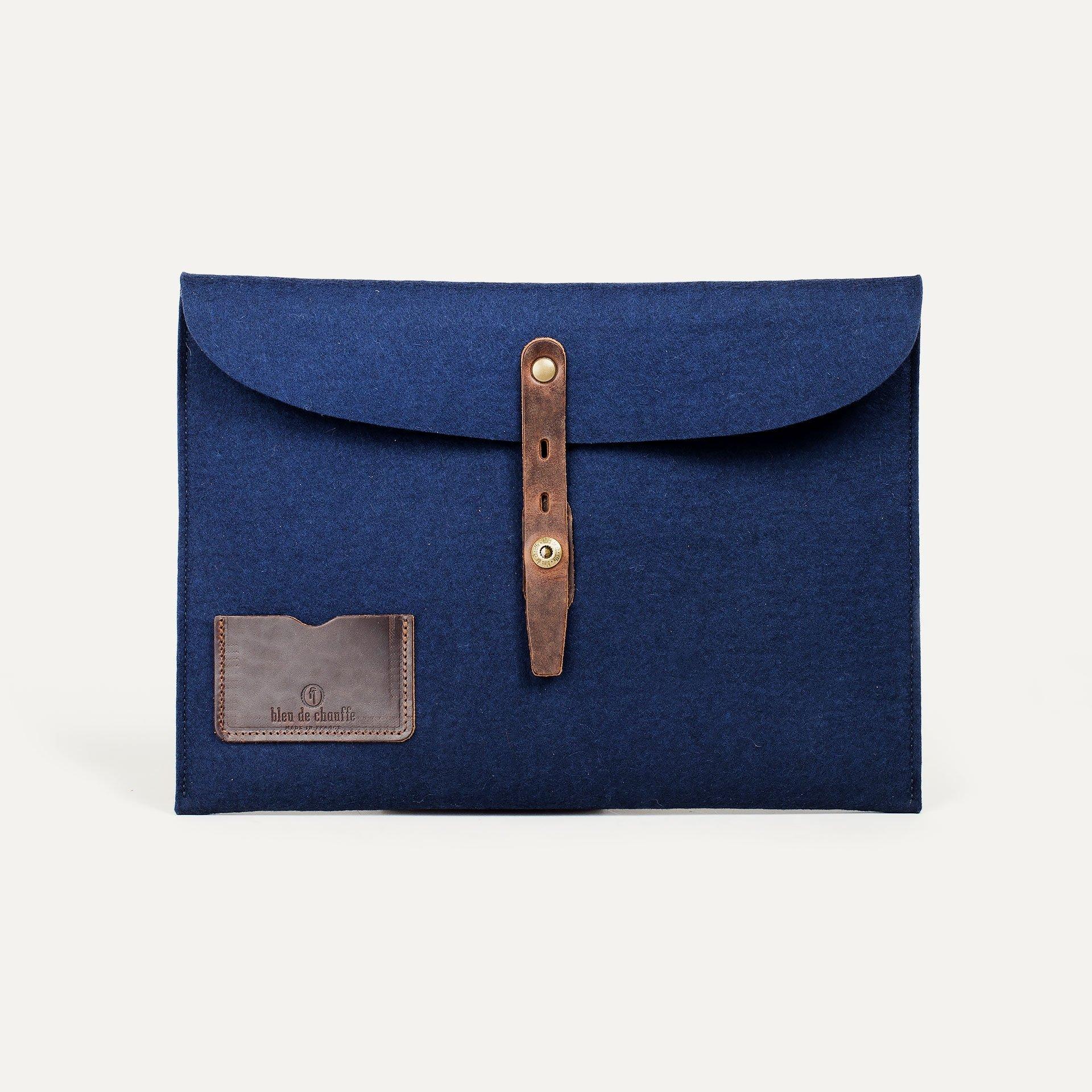 """Misha 13"""" Laptop sleeve - Blue felt (image n°1)"""