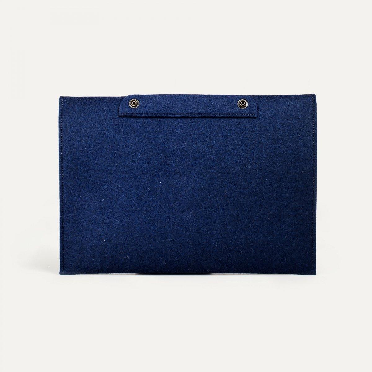 """Misha 13"""" Laptop sleeve - Blue felt (image n°2)"""