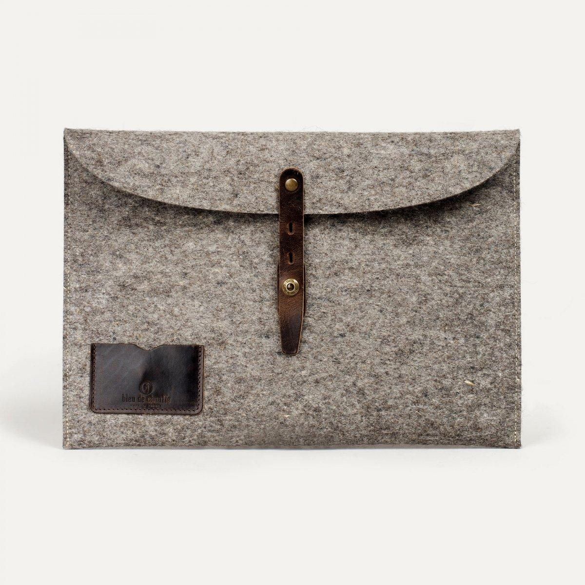 """Misha 15"""" Laptop sleeve - Natural felt (image n°1)"""