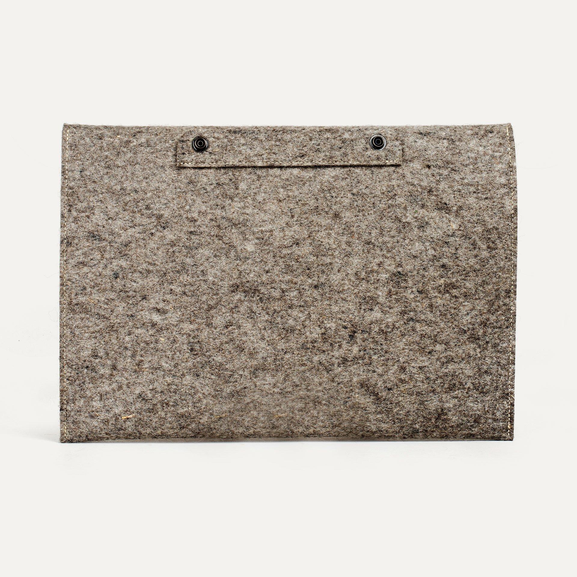 """Misha 15"""" Laptop sleeve - Natural felt (image n°2)"""