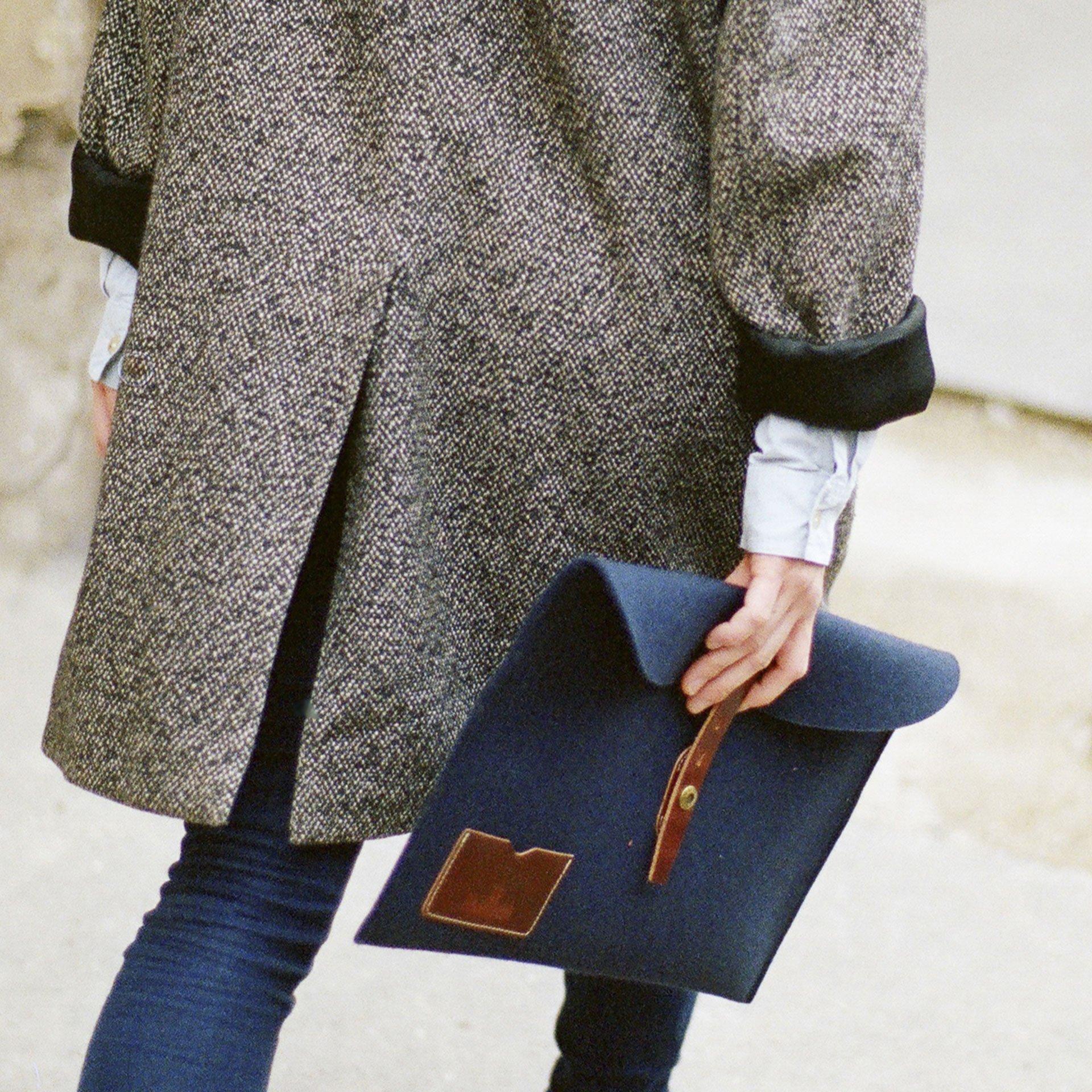 """Misha 15"""" Laptop sleeve - Natural felt (image n°3)"""