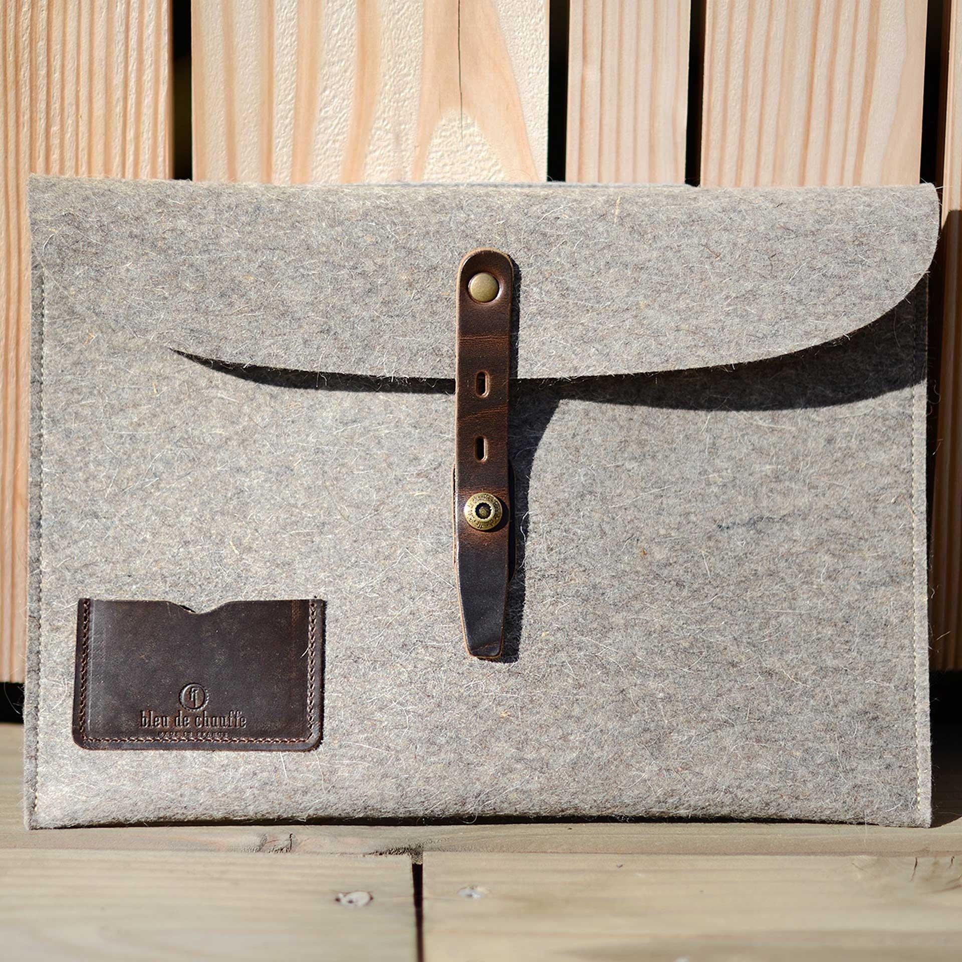 """Misha 15"""" Laptop sleeve - Natural felt (image n°4)"""