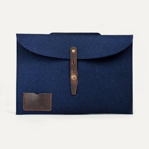 "Misha 15"" Laptop sleeve - Blue felt"