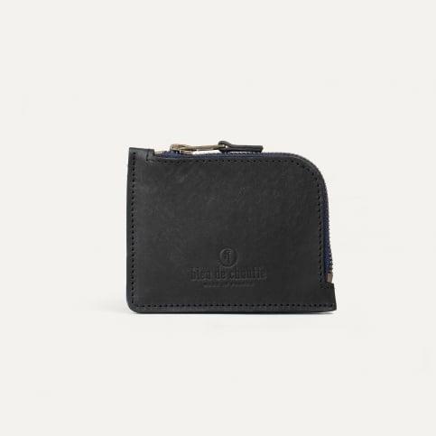 As zippered purse / M - Black