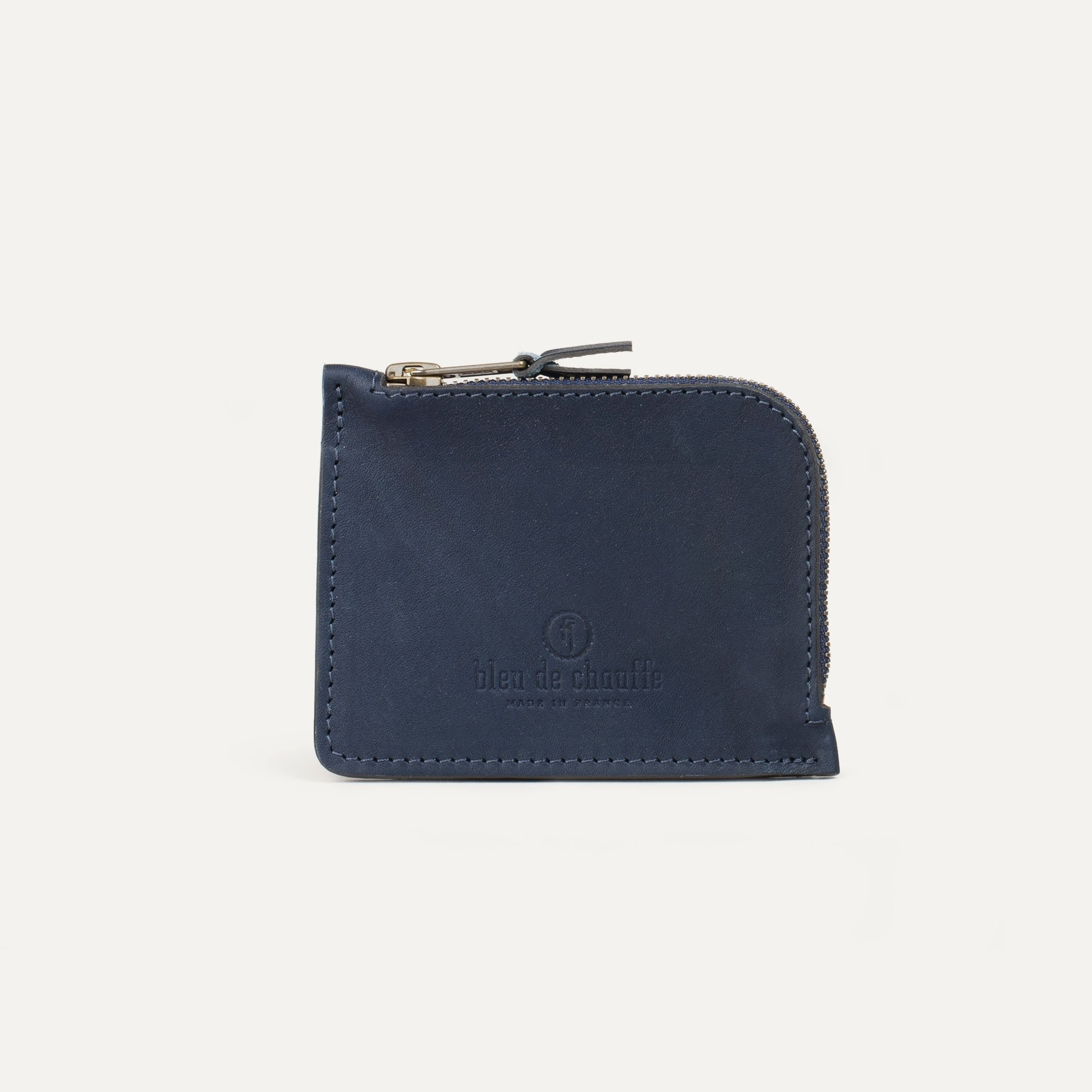 As zippered purse / M - Navy Blue (image n°1)