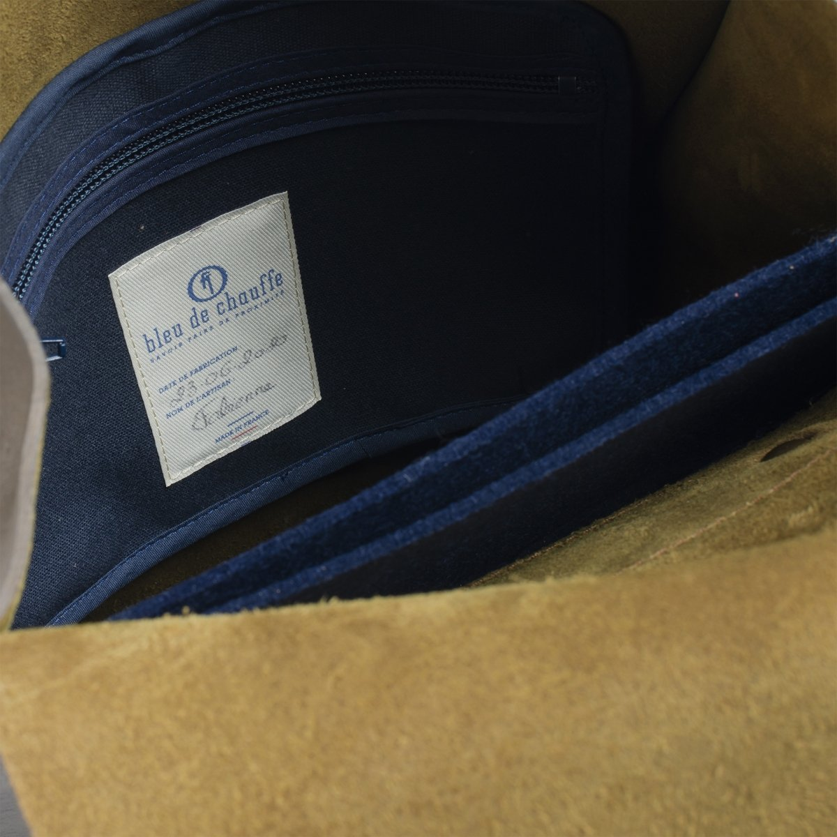 Puncho leather backpack - Khaki / E Pure (image n°5)