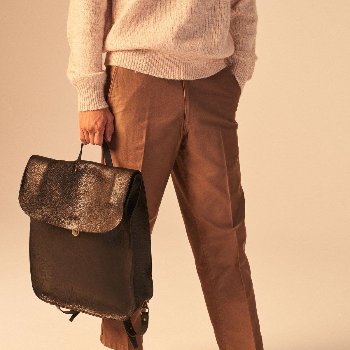 Arlo leather backpack - Black / E Pure (image n°6)