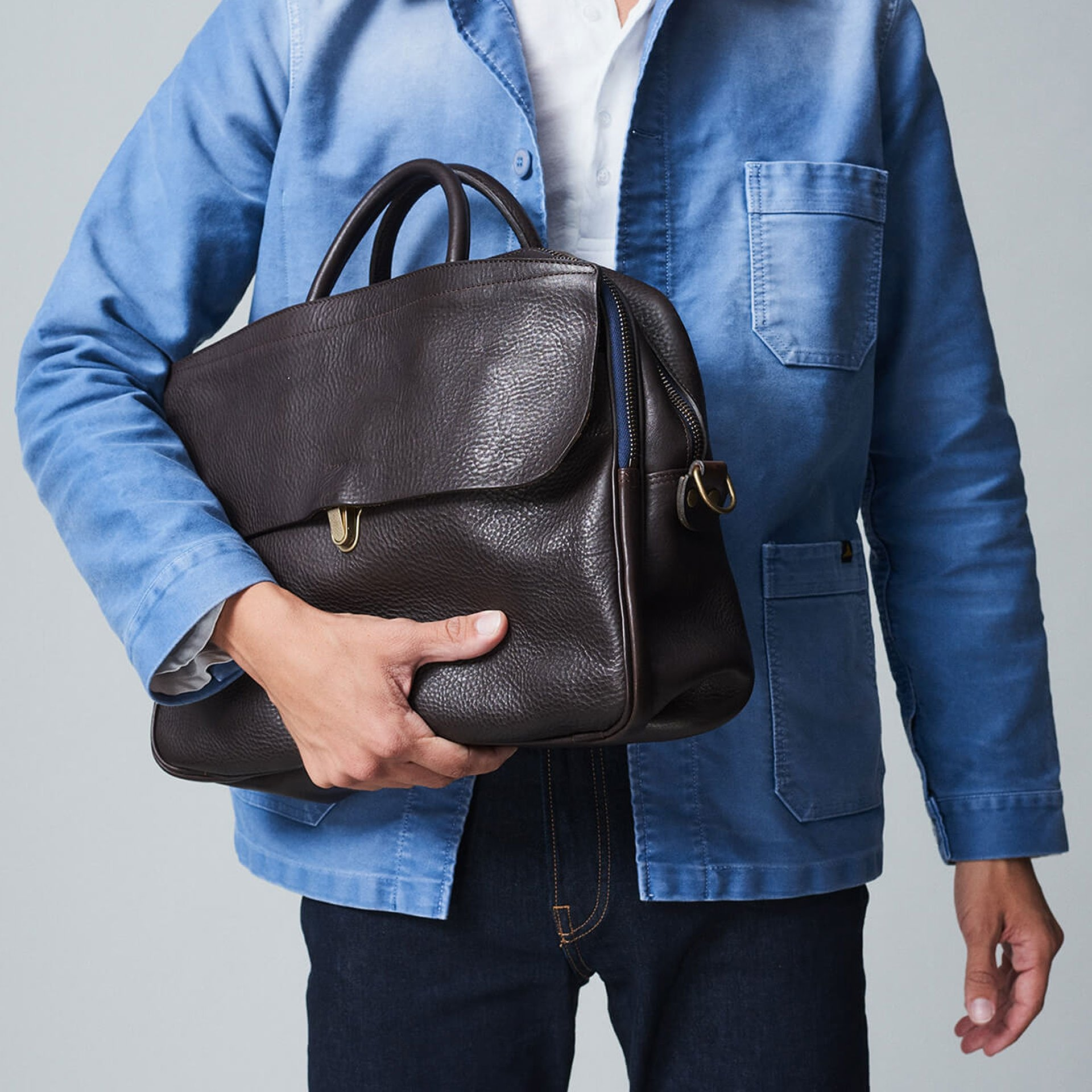 Zeppo Business bag - Dark Brown / E Pure (image n°7)