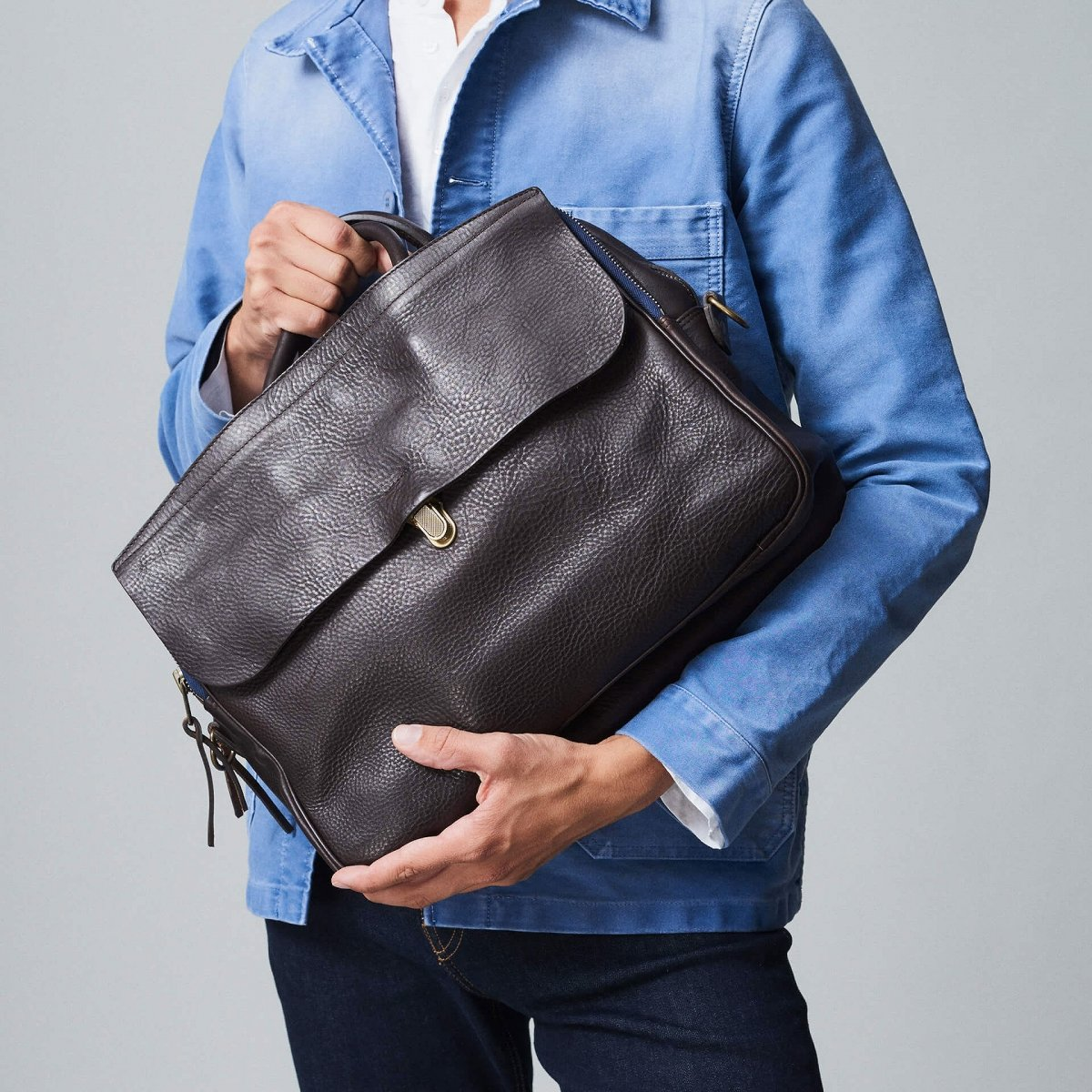 Zeppo Business bag - Dark Brown / E Pure (image n°8)