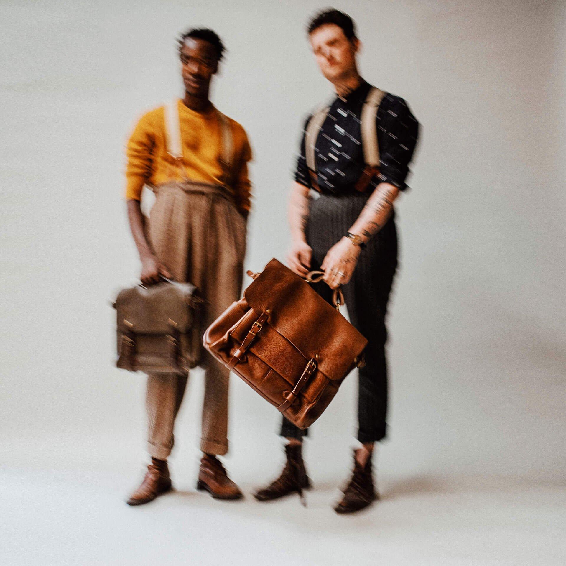 48h Irving Executive Postman bag - Peat (image n°6)