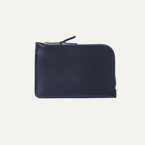 Pognon zipped purse - Navy Blue