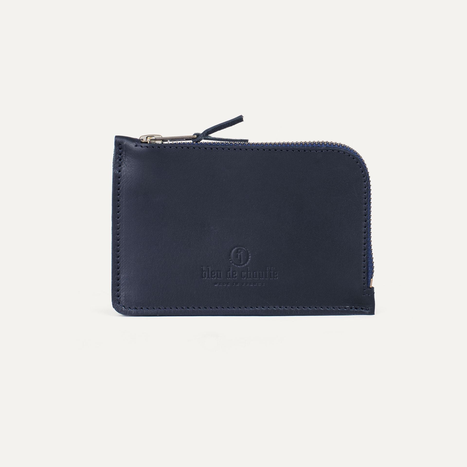 Pognon zippered purse  / L - Navy Blue (image n°1)