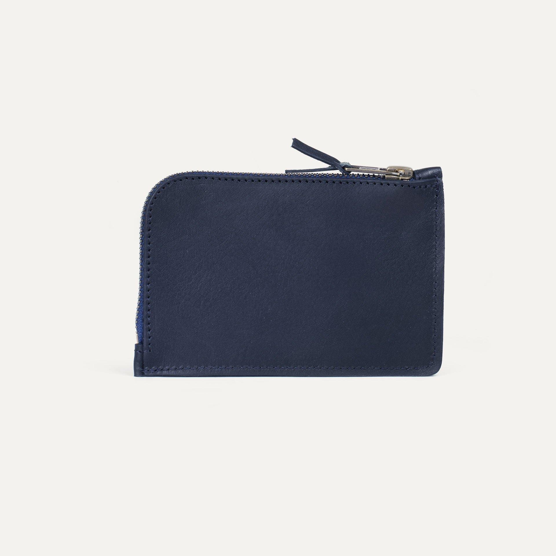 Pognon zippered purse  / L - Navy Blue (image n°2)