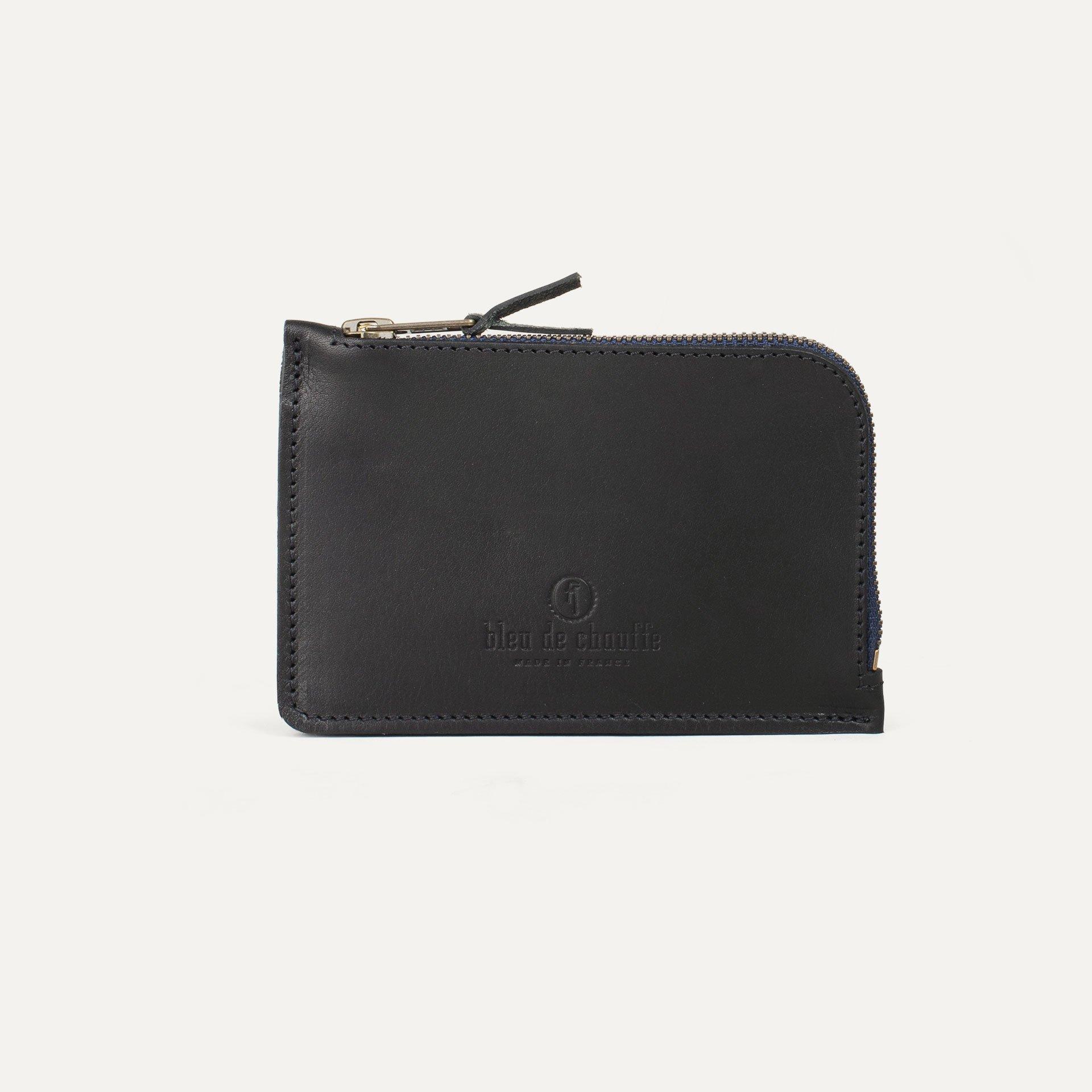 Pognon zippered purse  / L - Black (image n°1)