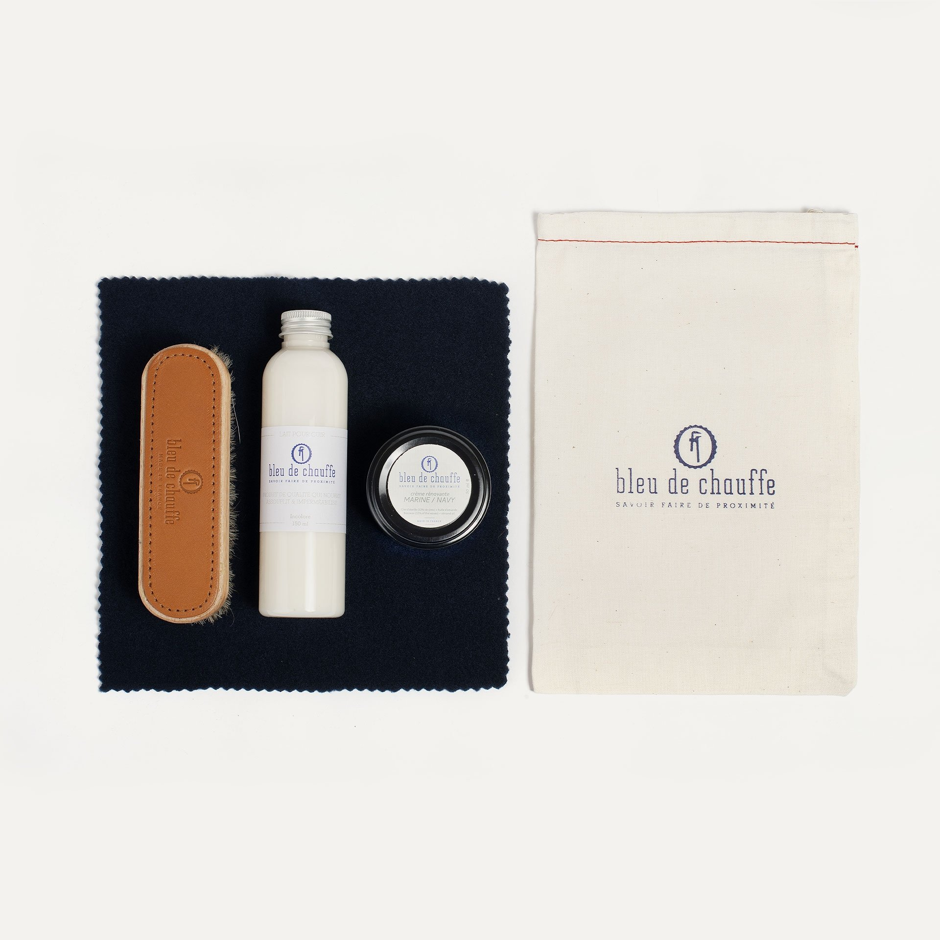 Complete Bag care kit  - Navy Blue (image n°1)