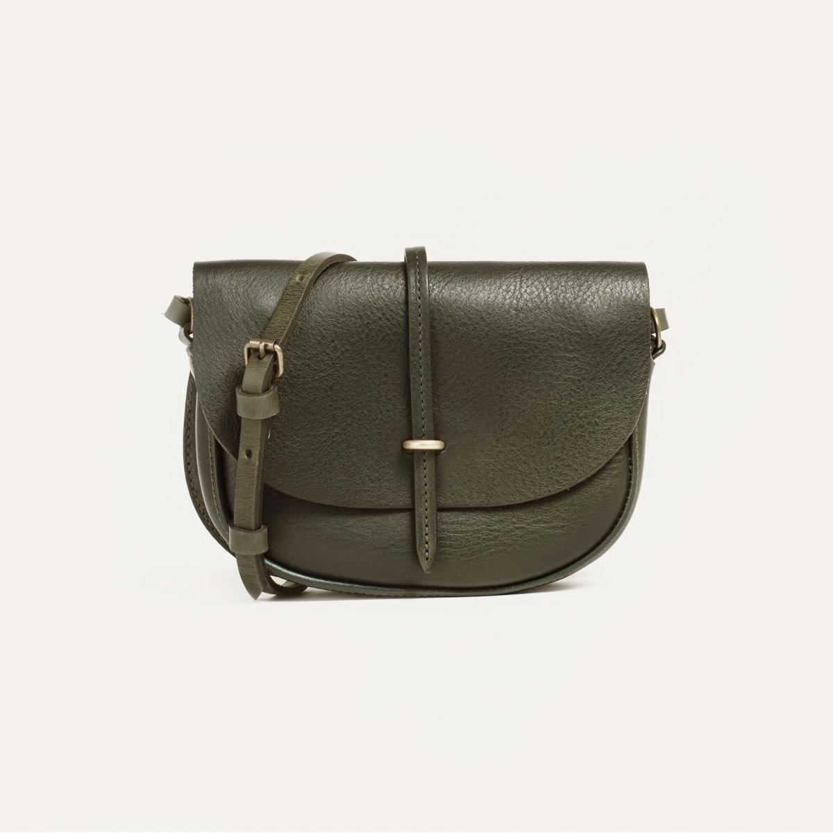 Mini sac postier Java - Kaki  (image n°1)