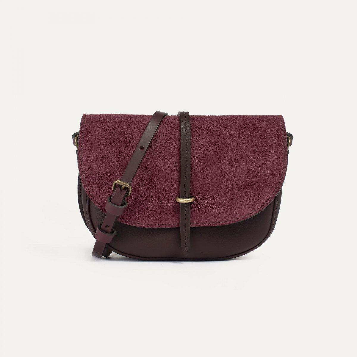Java mini Postman bag - Burgundy / Mix (image n°1)