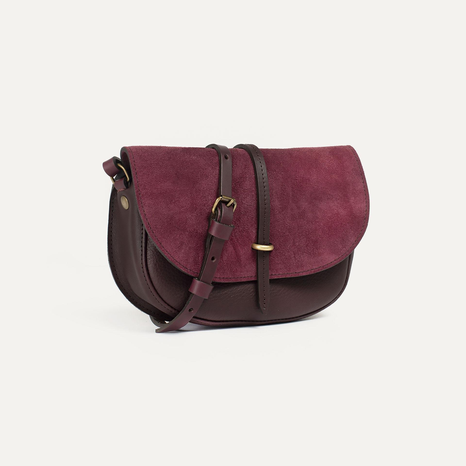Java mini Postman bag - Burgundy / Mix (image n°2)