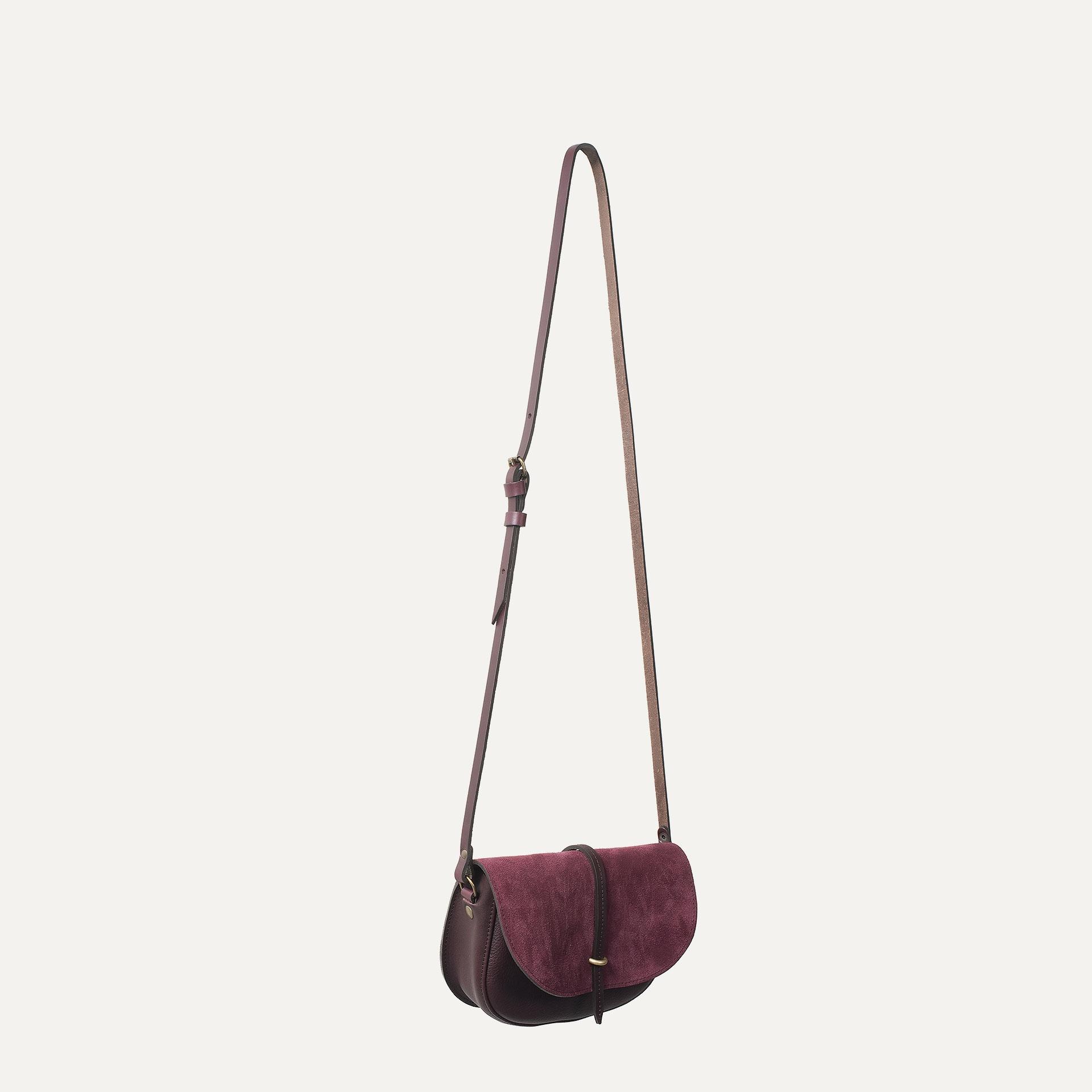 Java mini Postman bag - Burgundy / Mix (image n°4)