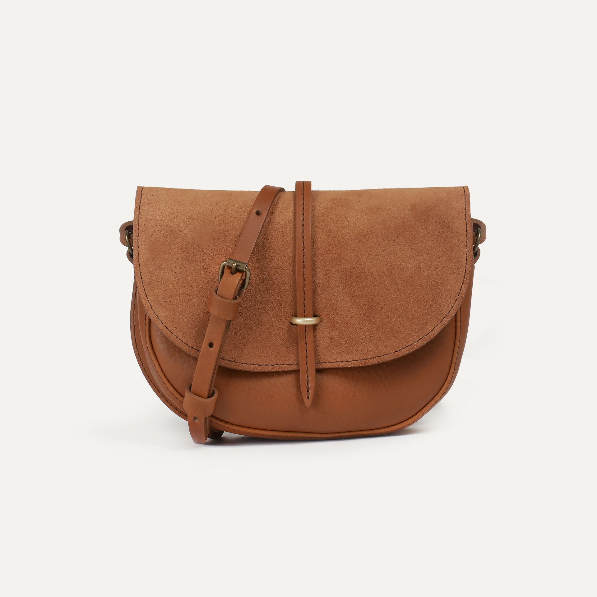 Java mini Postman bag - Havana / Mix (image n°1)