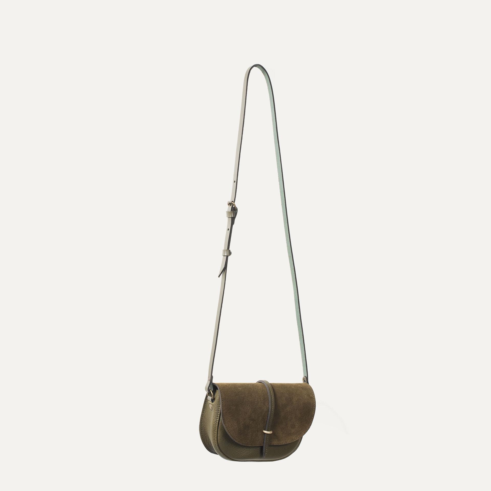 Java mini Postman bag - Khaki / Mix (image n°4)