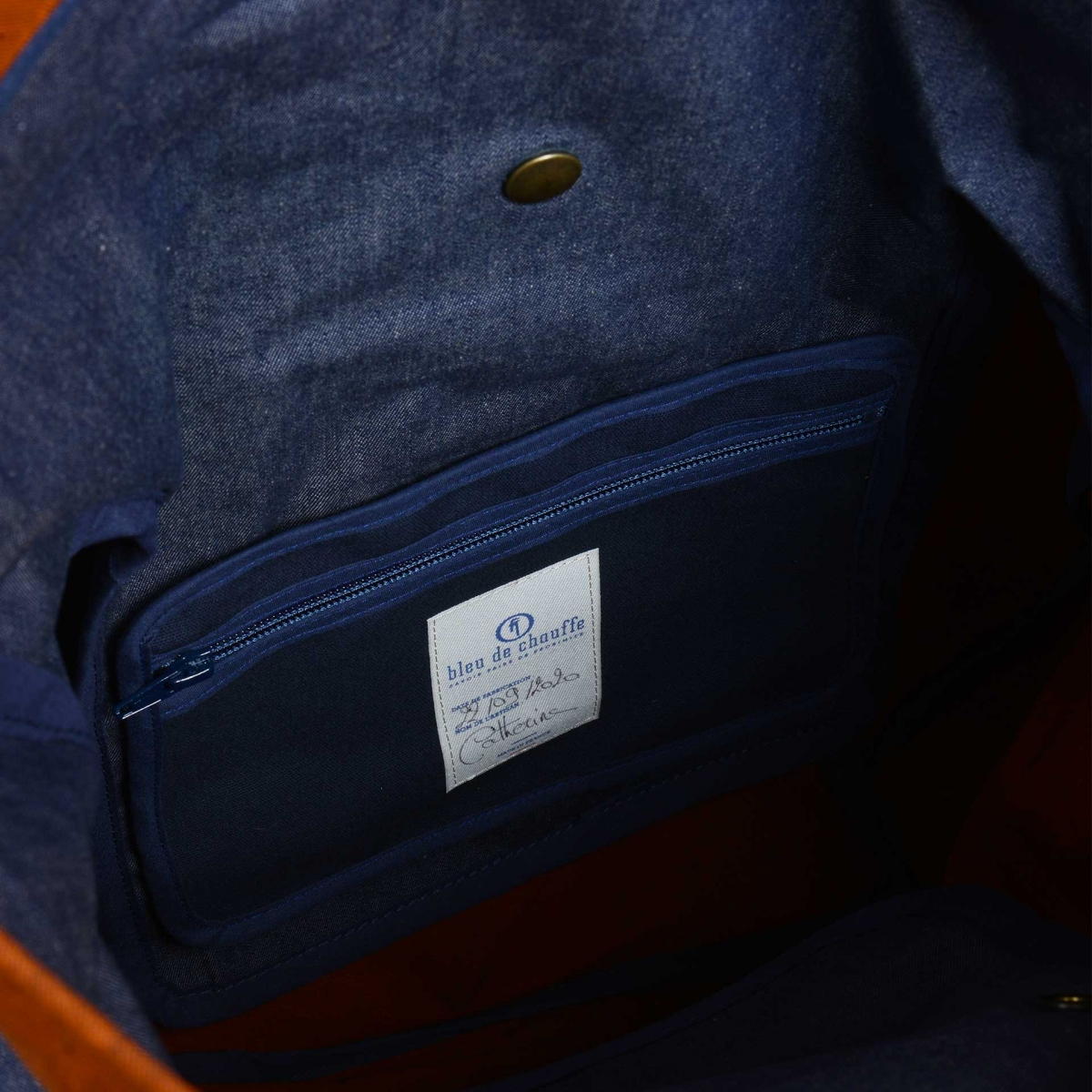 Woody L Backpack - Denim/Terra cotta (image n°4)