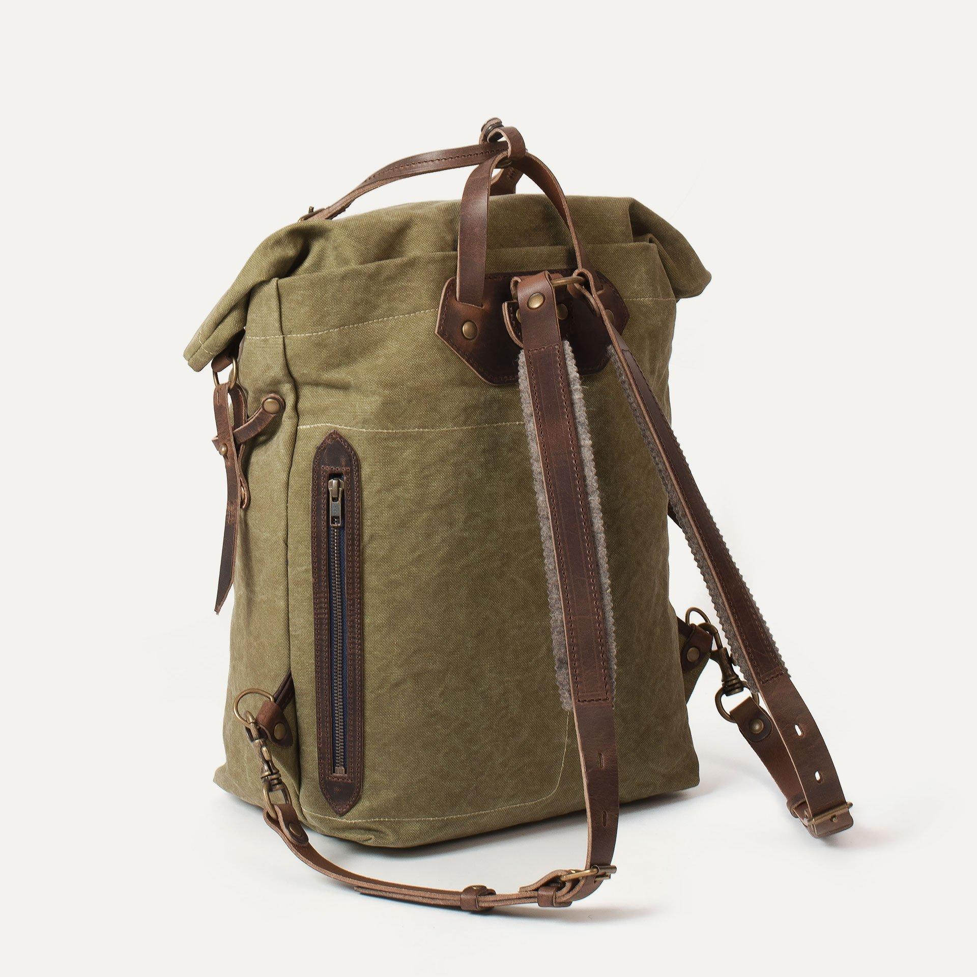 Woody M Backpack - Khaki stonewashed (image n°3)