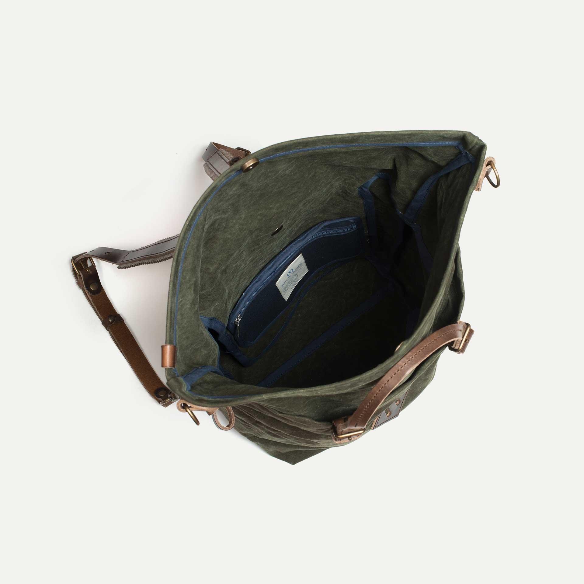 Woody M Backpack - Dark Khaki (image n°4)