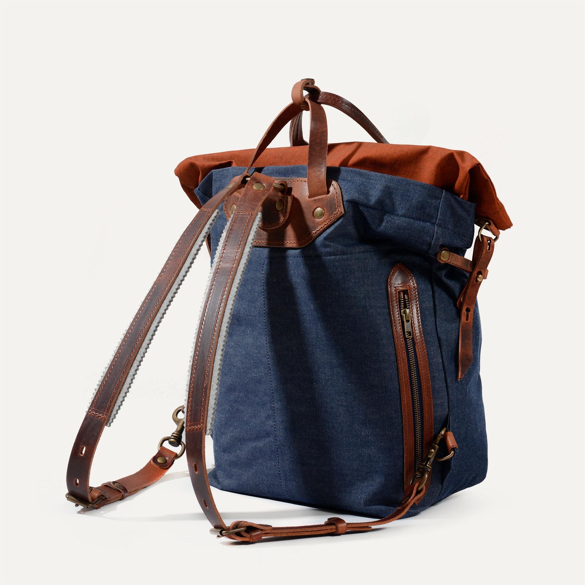 Woody M Backpack - Denim/Terra cotta (image n°3)