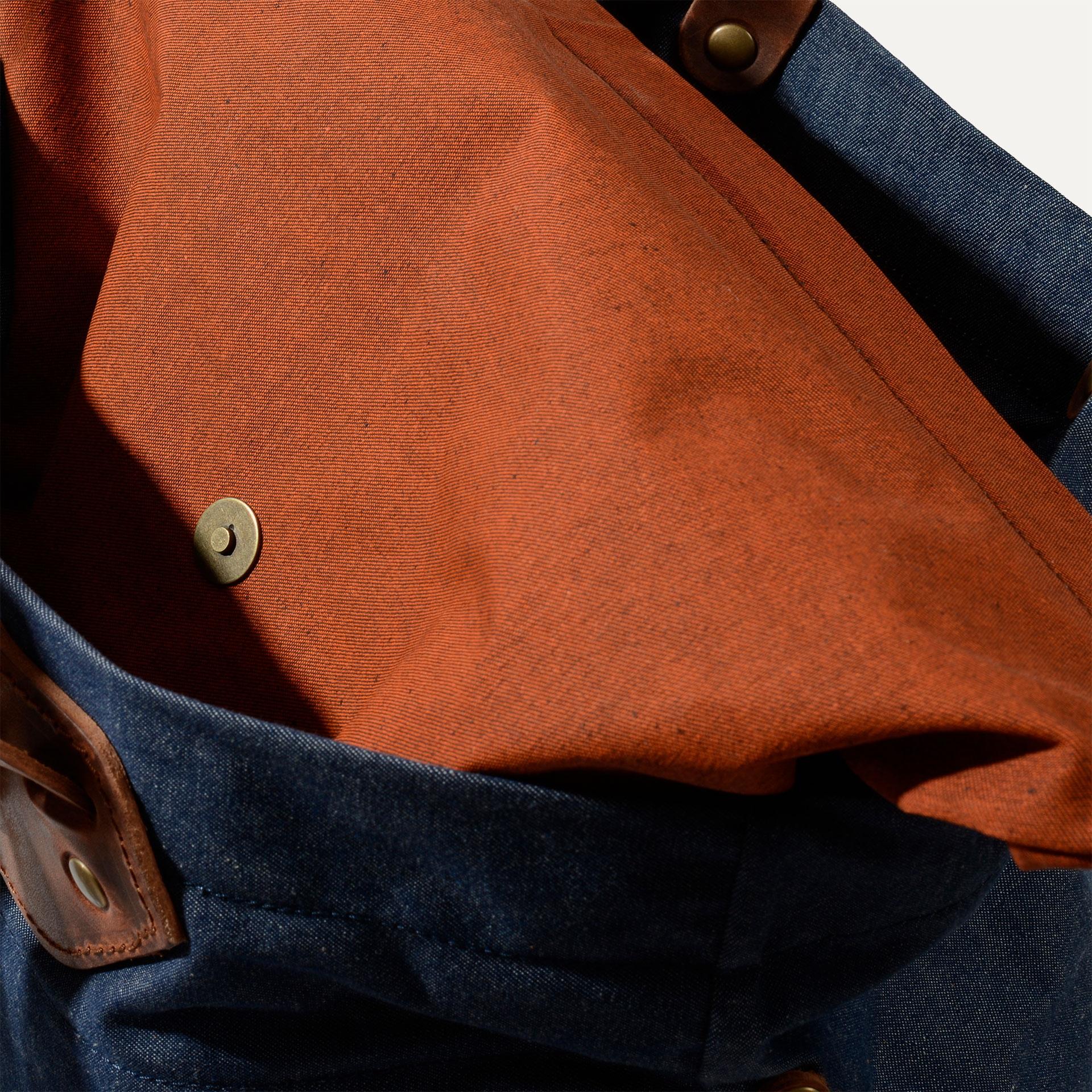 Woody M Backpack - Denim/Terra cotta (image n°4)