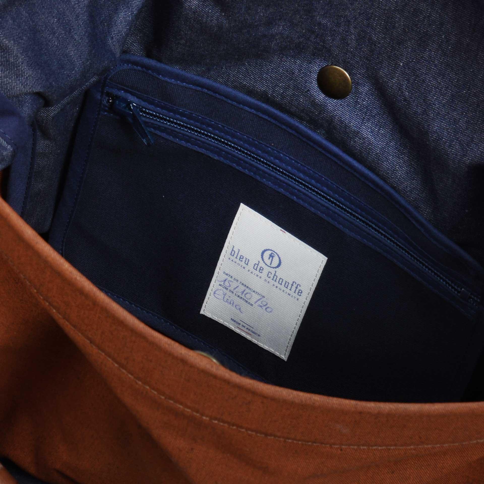 Woody M Backpack - Denim/Terra cotta (image n°5)