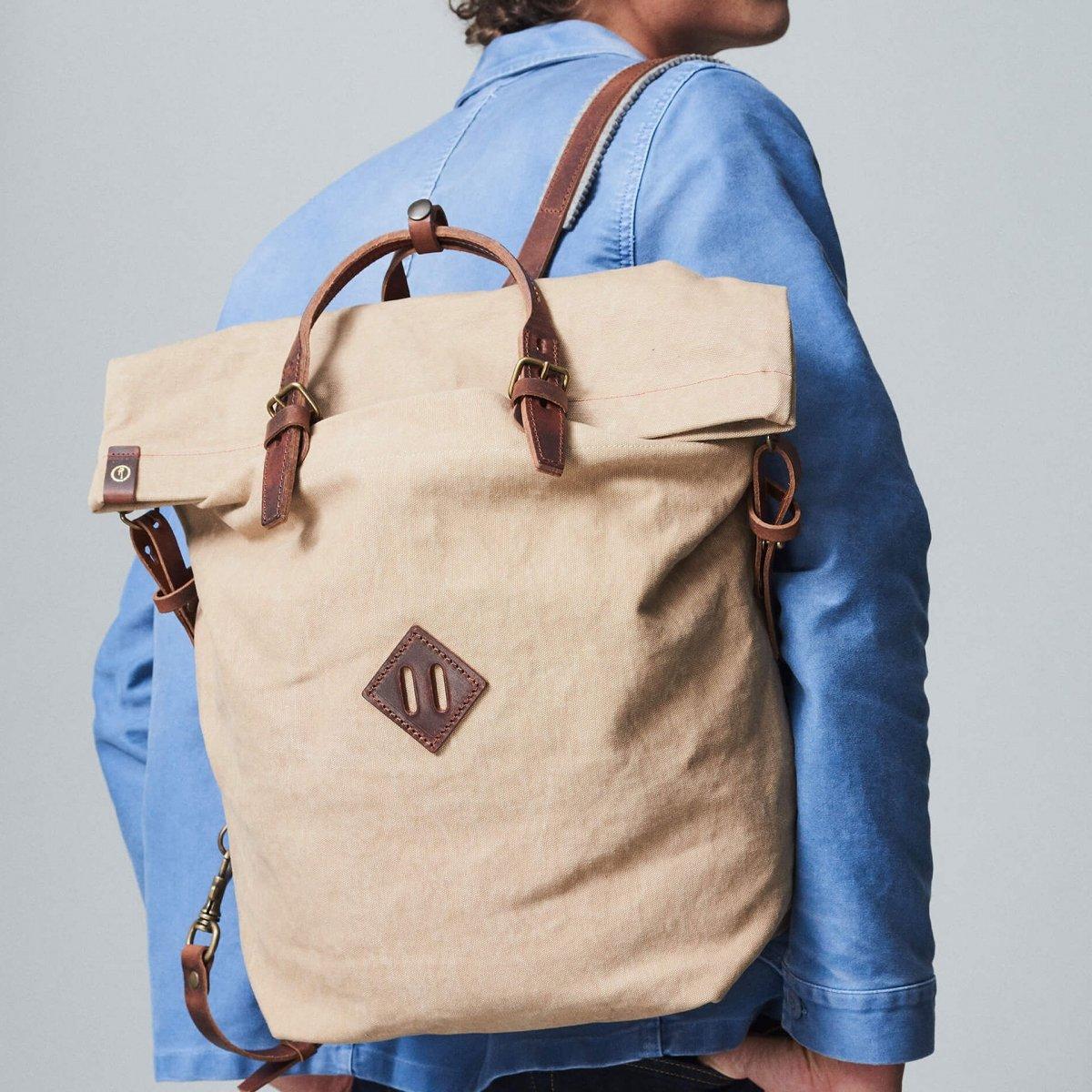 Woody M Backpack - Ecru (image n°5)