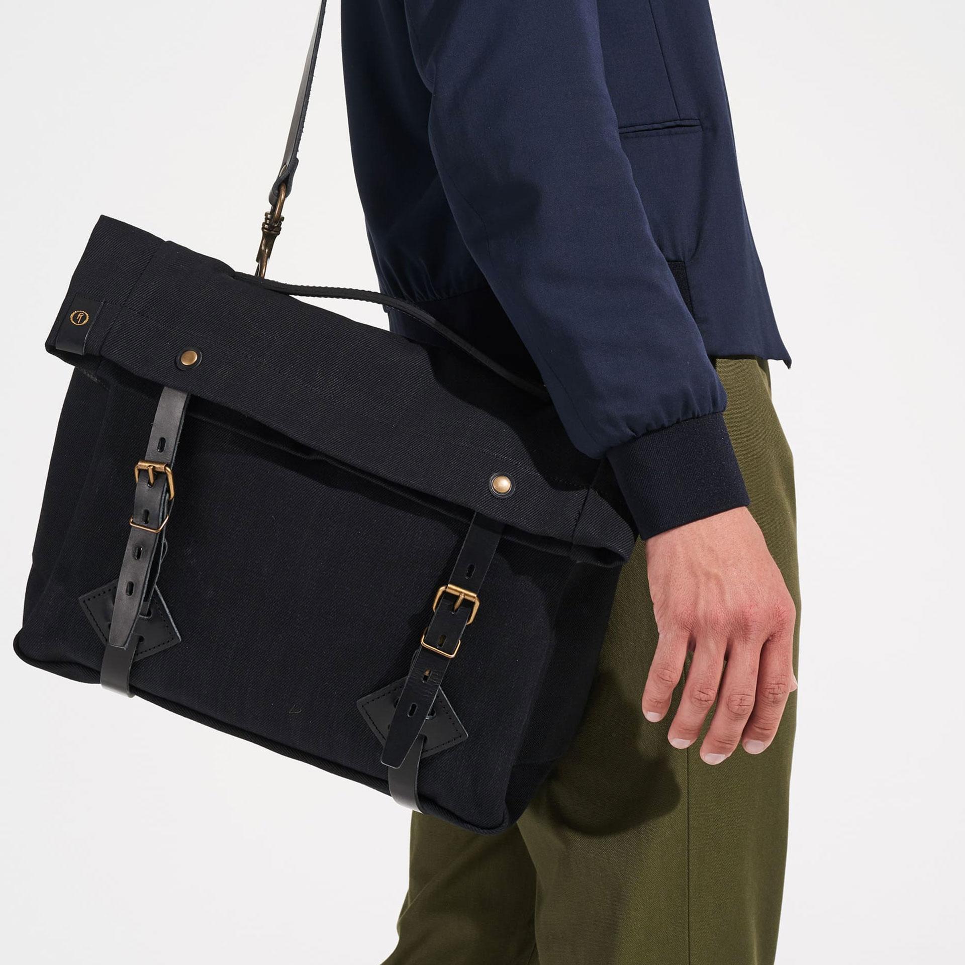 "Gaston tool bag – ""Musette"" - Black (image n°6)"
