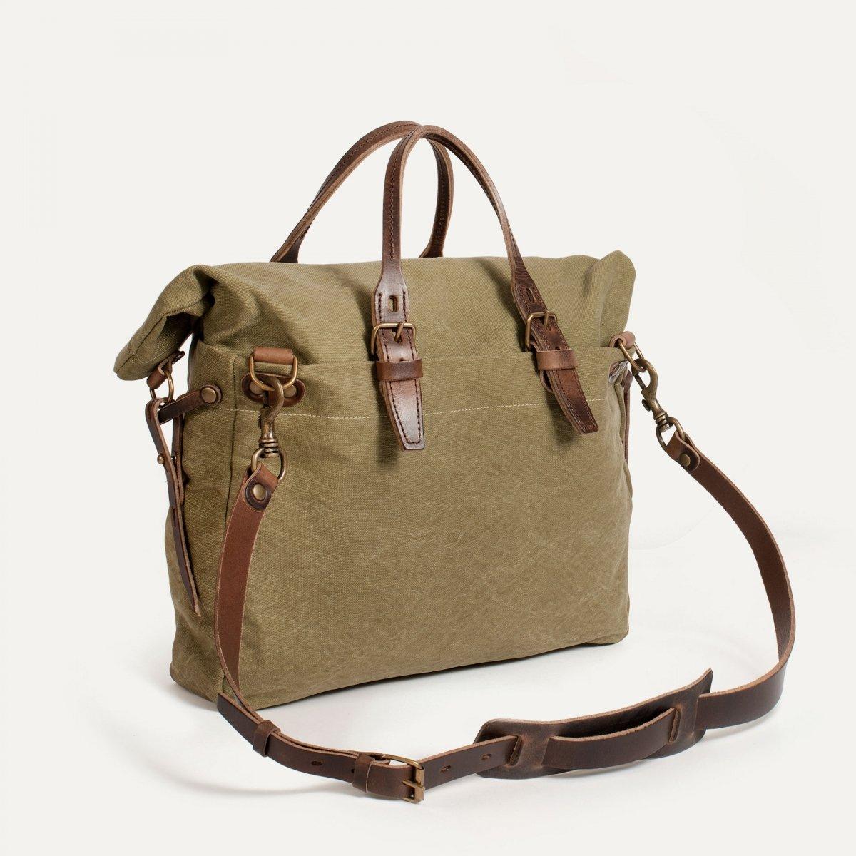 Remix business bag - Khaki stonewashed (image n°3)
