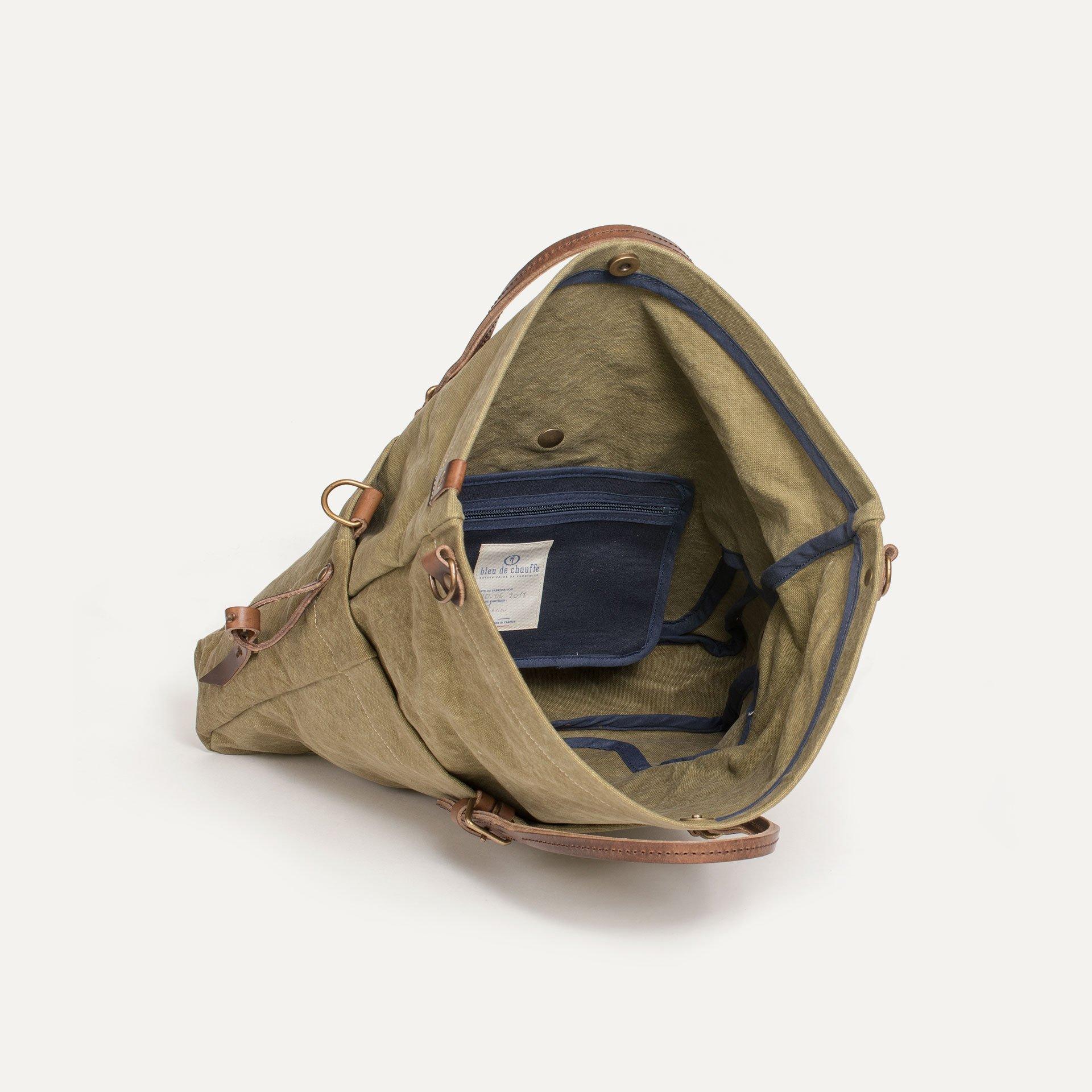 Remix business bag - Khaki stonewashed (image n°4)