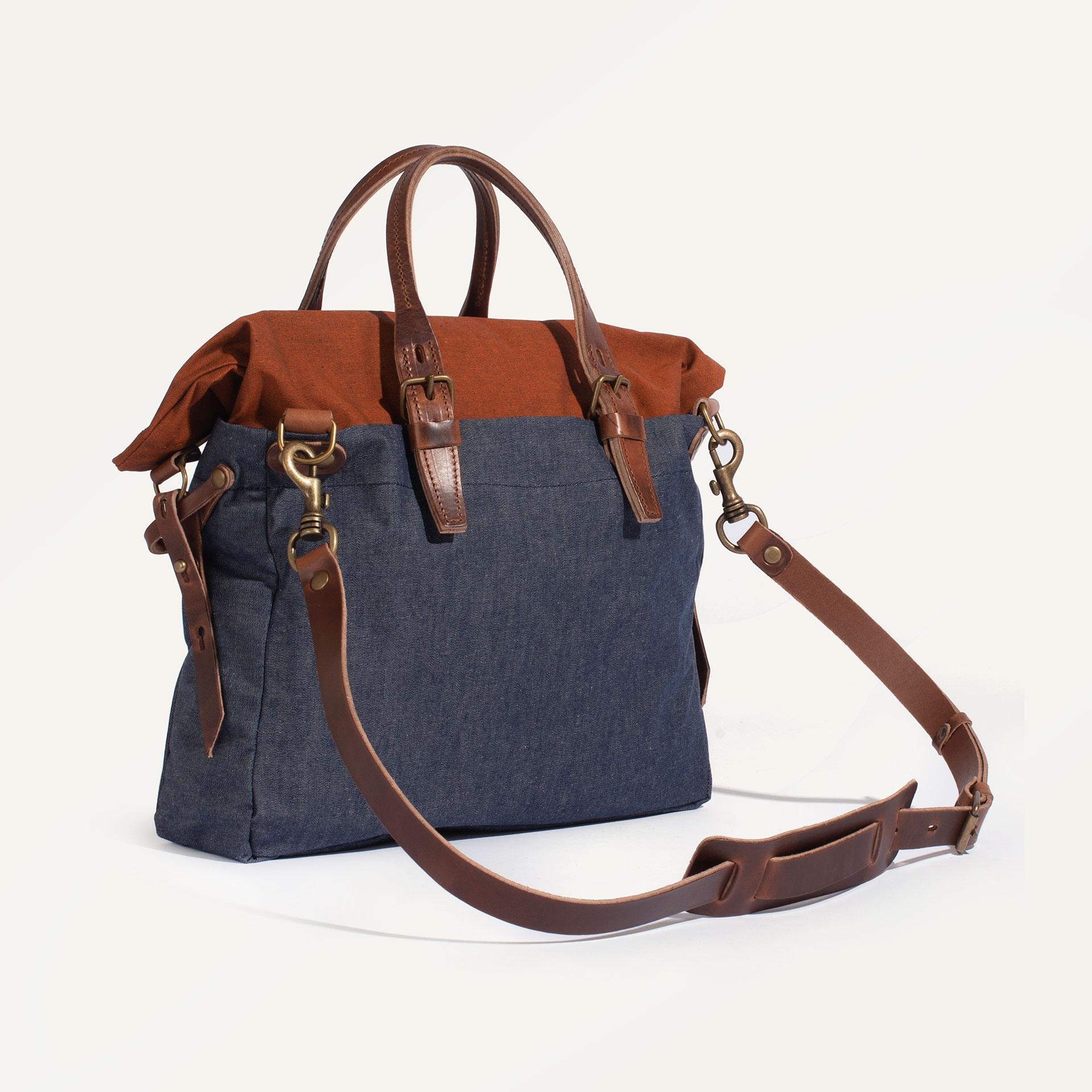 Remix business bag - Denim/Terra cotta (image n°3)