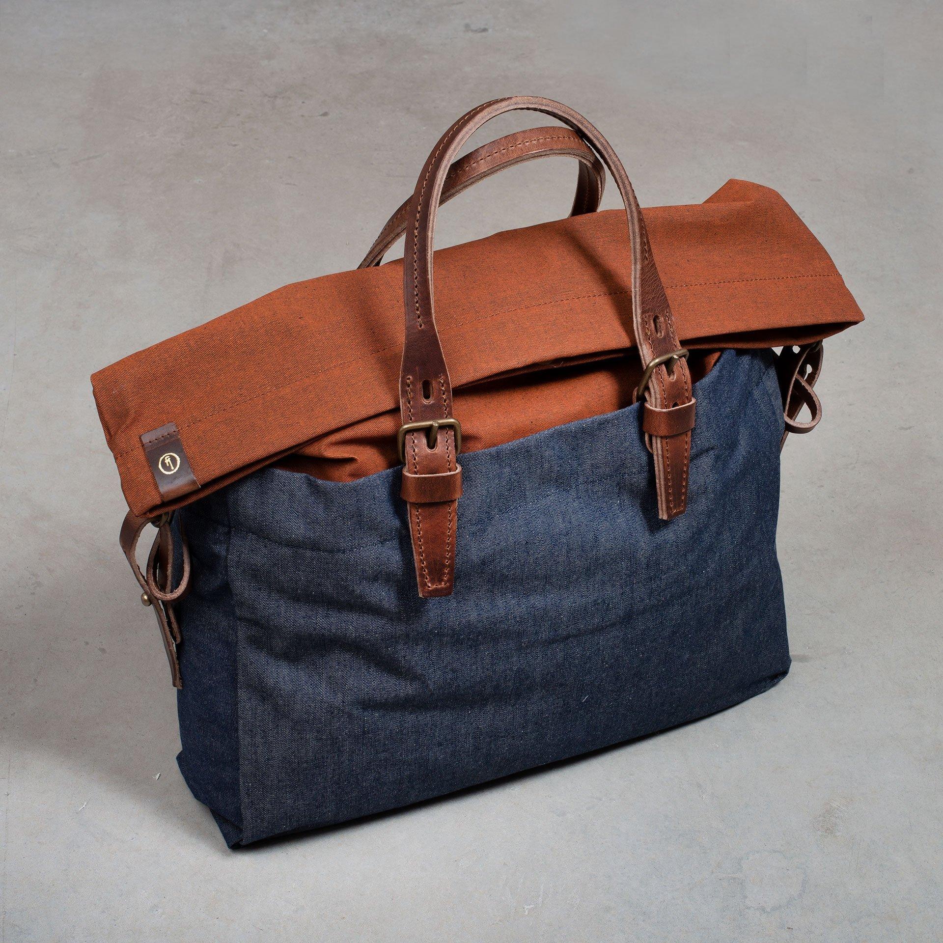 Remix business bag - Denim/Terra cotta (image n°5)