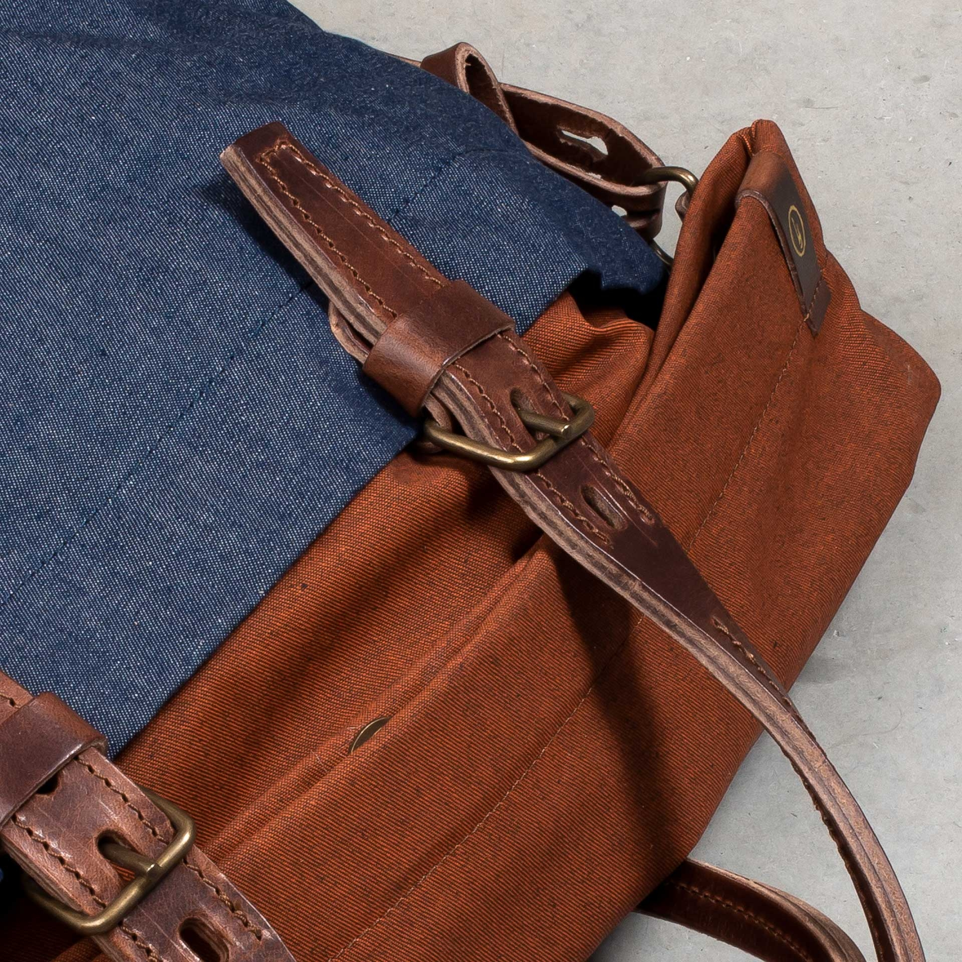 Remix business bag - Denim/Terra cotta (image n°6)
