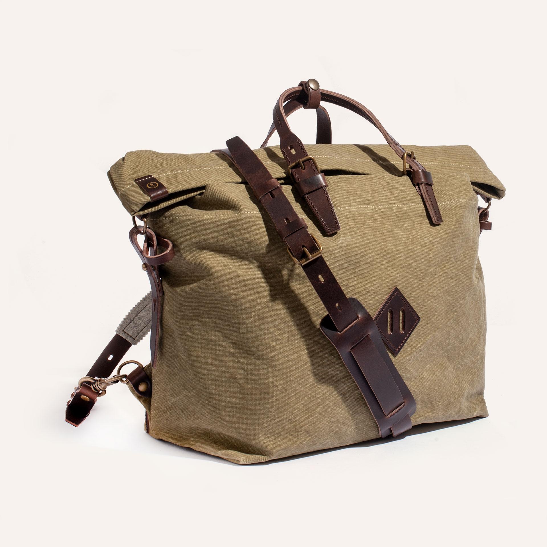 Woody L Backpack - Khaki stonewashed (image n°2)