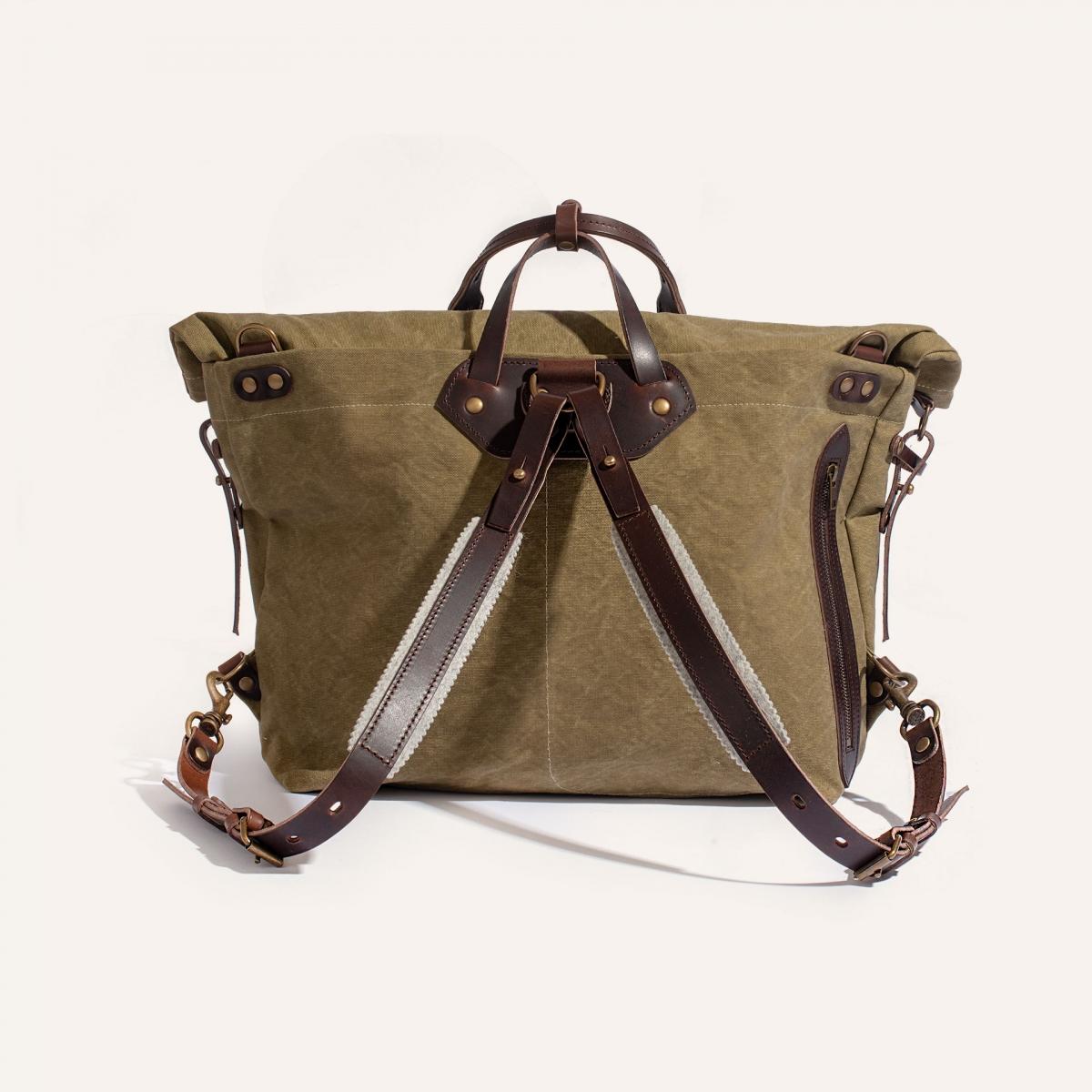 Woody L Backpack - Khaki stonewashed (image n°3)