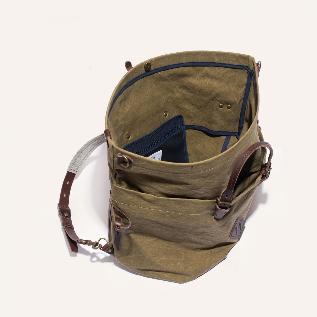 Woody L Backpack - Khaki stonewashed (image n°4)