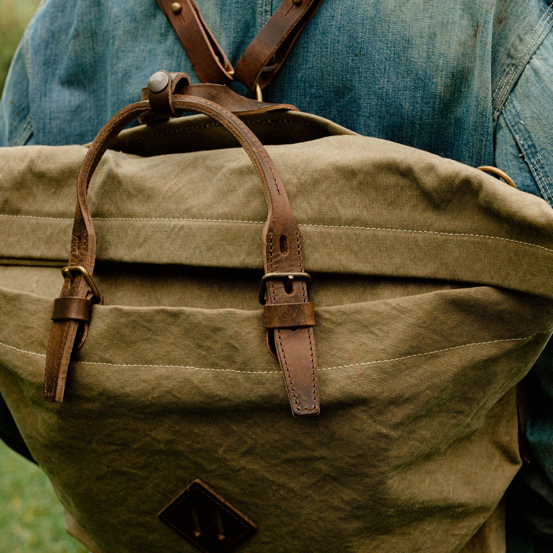 Woody L Backpack - Khaki stonewashed (image n°6)