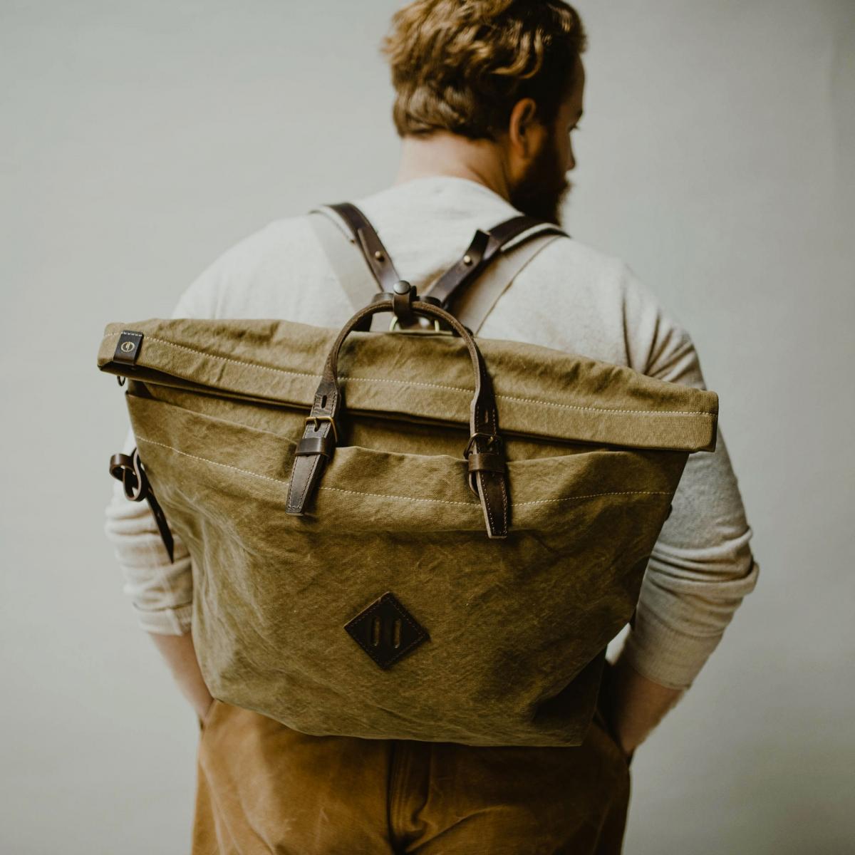 Woody L Backpack - Khaki stonewashed (image n°5)