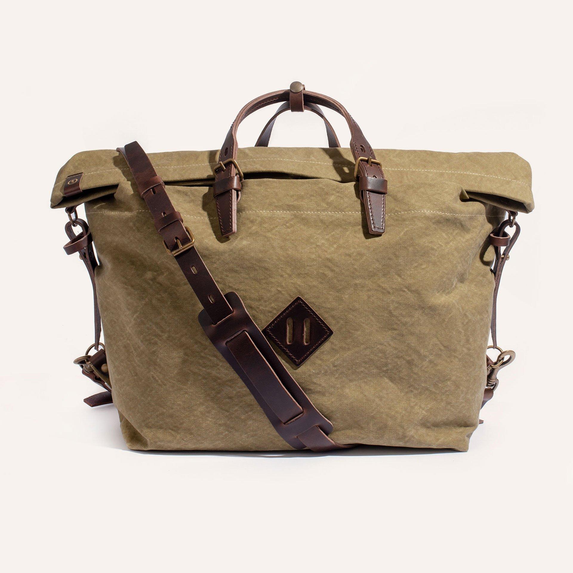 Woody L Backpack - Khaki stonewashed (image n°1)