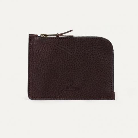 Porte monnaie zippé Daron / XL - Tourbe