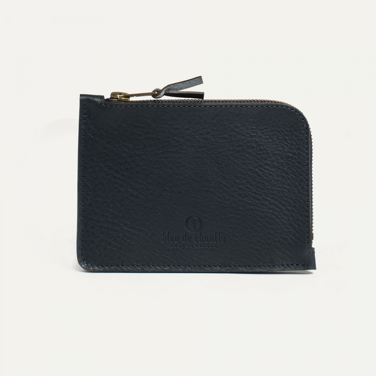 Daron zippered purse / XL - Navy Blue (image n°1)
