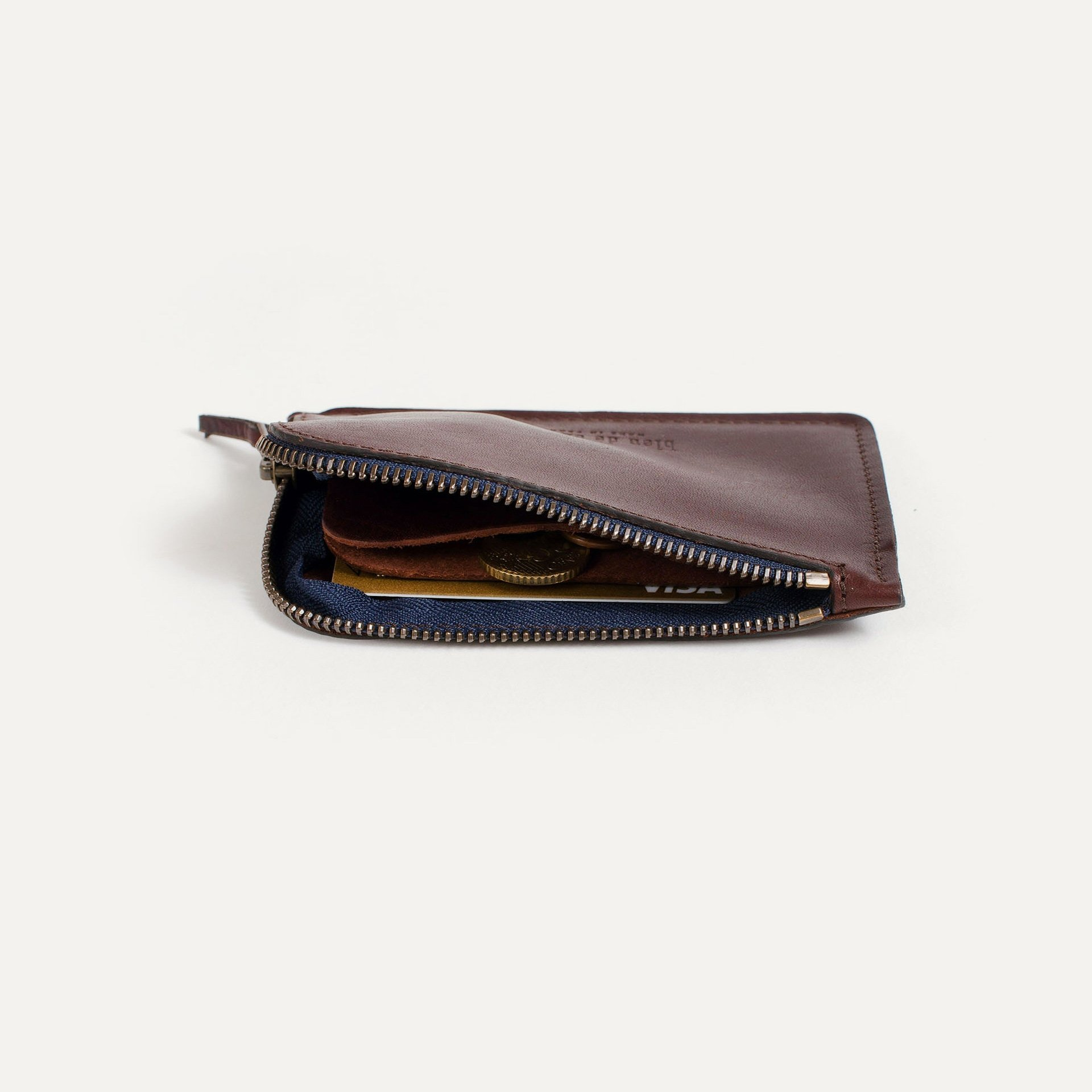 Pognon zippered purse  / L - Peat (image n°3)