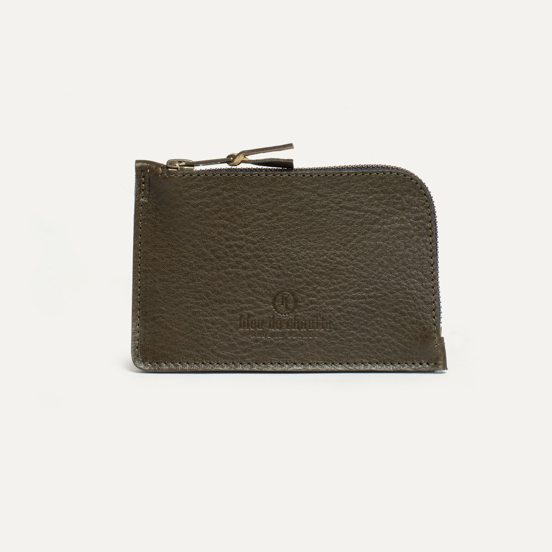 Pognon zippered purse  / L - Khaki (image n°1)
