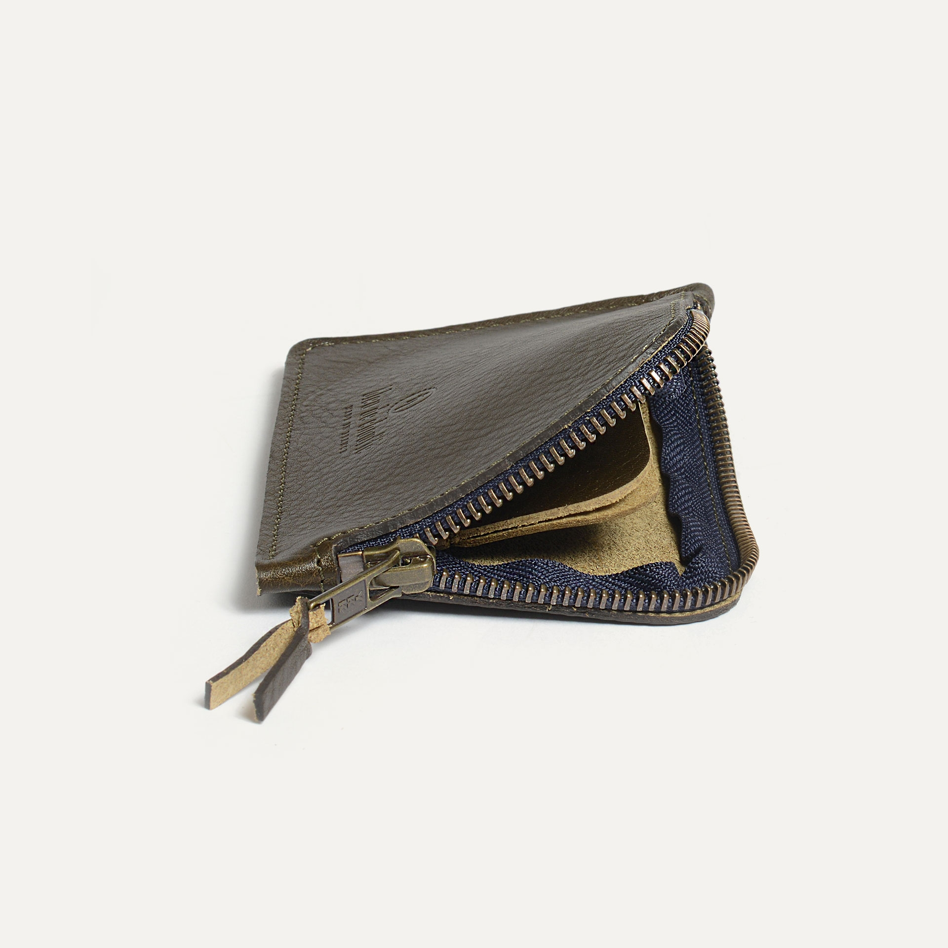 Pognon zippered purse  / L - Khaki (image n°3)