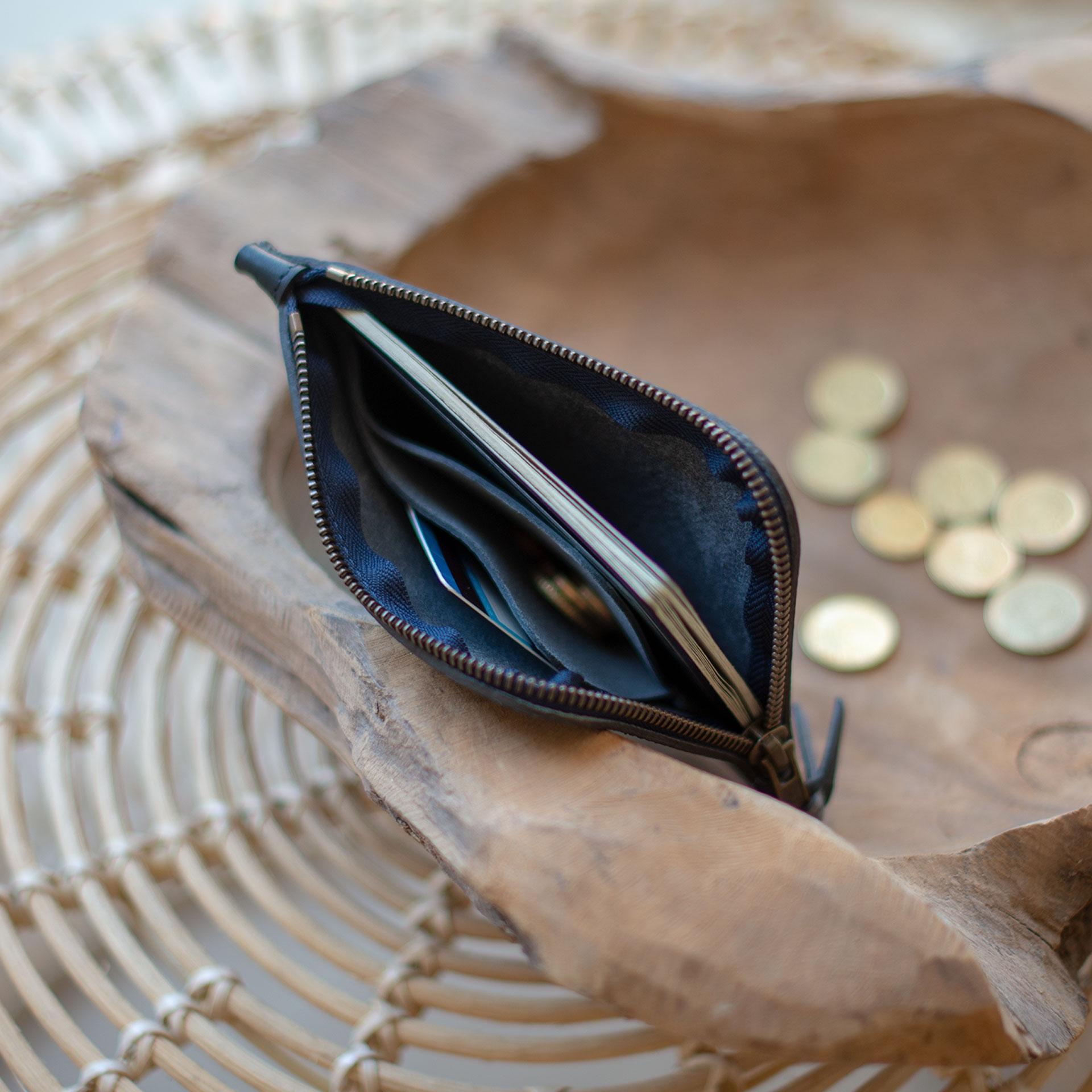 Porte monnaie zippé Daron / XL - Marine (image n°4)